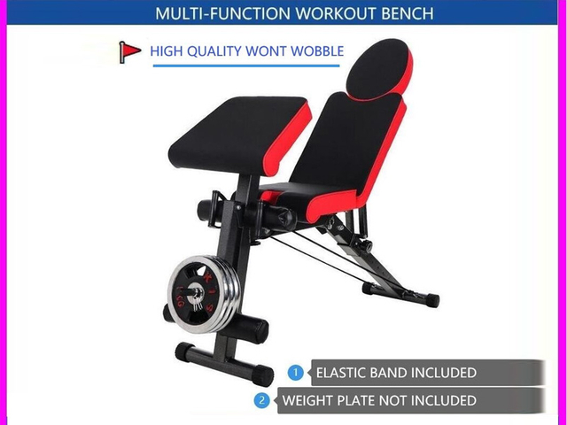 MULTI WORKOUT DUMBBELL BENCH STATION ADJUSTABLE HOME WORKOUT