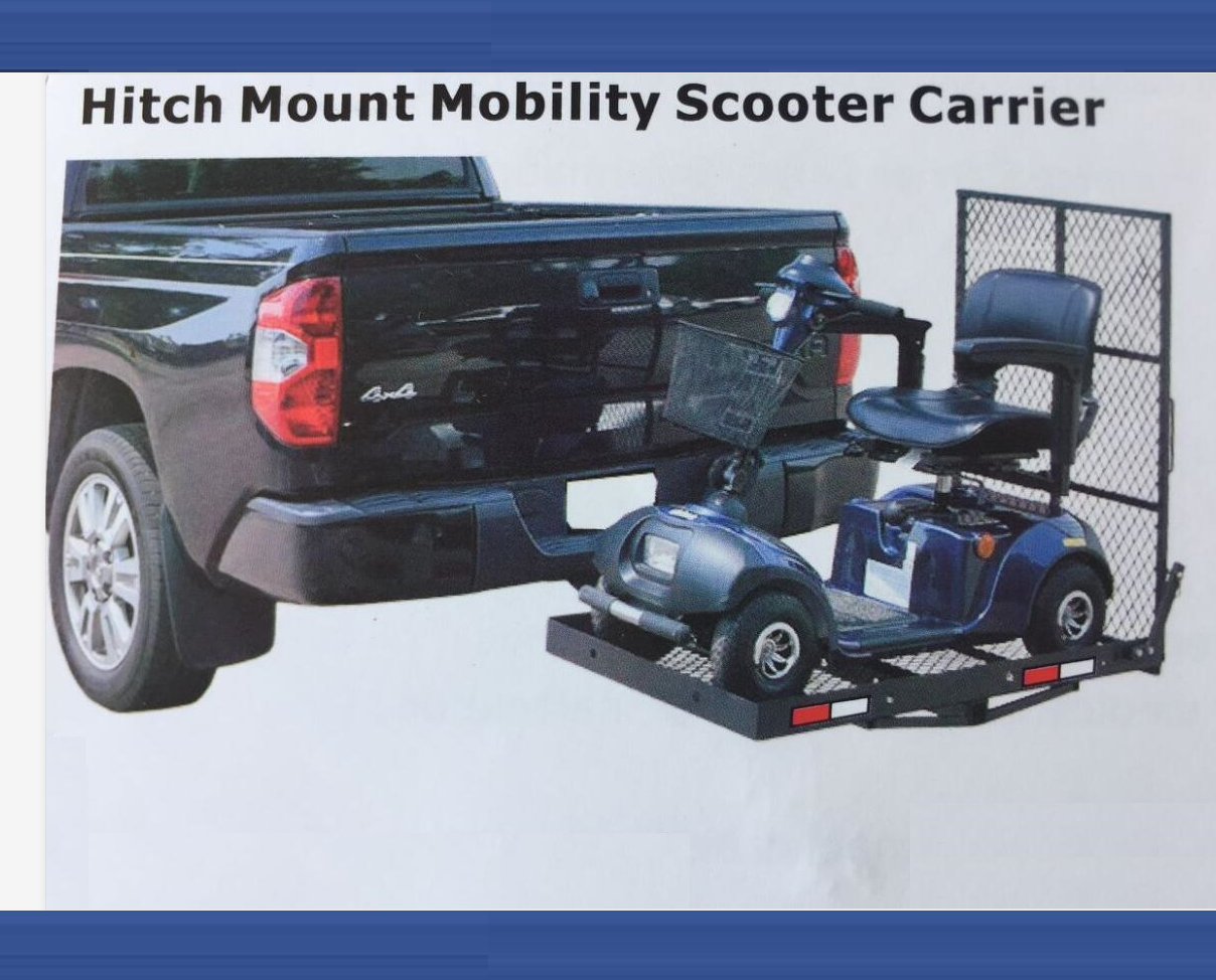 Hitch Mount Wheelchair Scooter Carrier TowBar Mobility Luggage Rack W/ Ramp